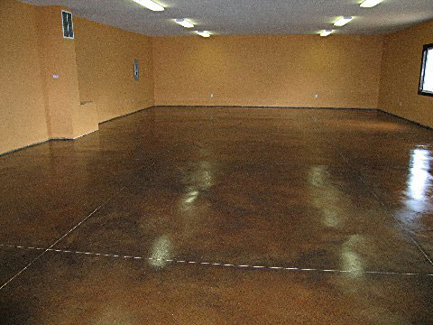 Concrete Acid Stain Variety Of Colors And Sealer From
